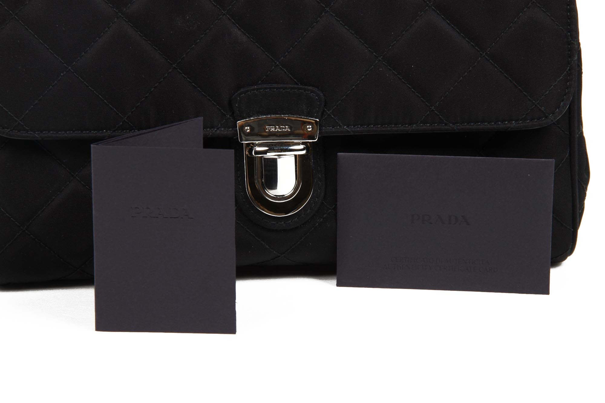 0264de740d Prada Clutch handbag BP0584 black Impuntu Tessuto – Just Fashion