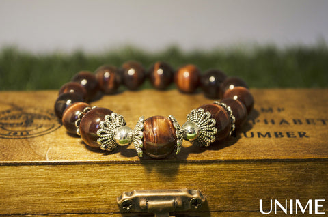 Unime Red Tiger Eye Bracelet