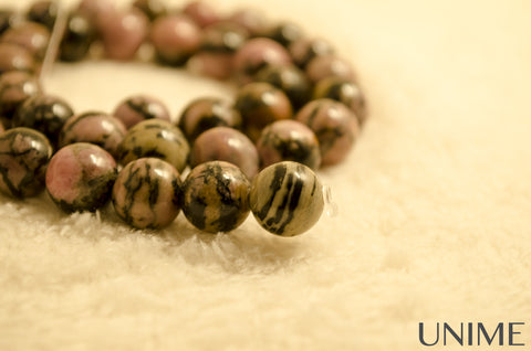 Unime Rhodonite gemstone beads
