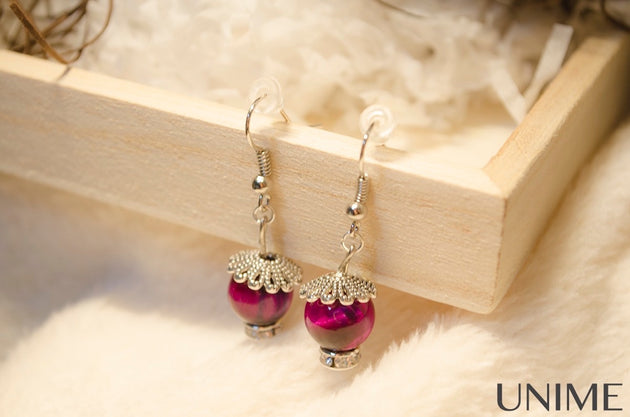 Pink Tiger's Eye Earrings