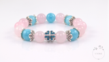 Ai – Loving Rose quartz and Blue Quartz Bracelet