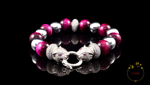 Bijon – Insightful Pink Eye Tiger Bracelet
