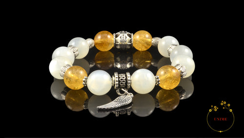 Citron – Buoyant Citrine and Moonstone Bracelet