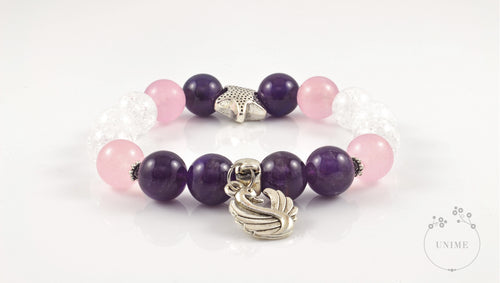 Armonia – Harmonious Rock Quartz, Amethyst and Pick Quartz Bracelet
