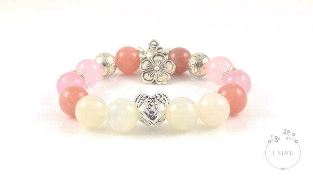 Unione – Union of Sunstone and Moonstone Bracelet