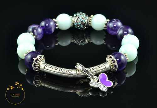 Shaanti | Peaceful Amethyst and Amazonite Bracelet