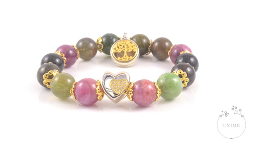 Caihong –  Colourful Rainbow Tourmaline Bracelet