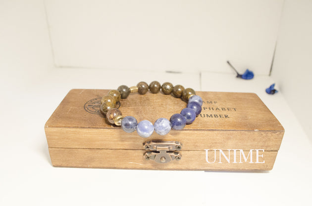 Sodalite and Bronzite bracelet