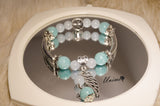 Aquamarine and Brazilian Amazonite bracelet