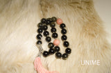 33 Tasbih prayer Black Obsidian beads