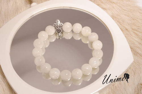 Cross Charm Moonstone bracelet