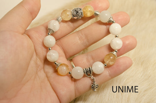 Citrine and Moonstone bracelet
