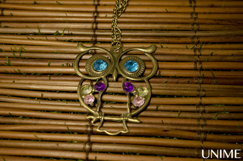 Bronze Vintage Cute Owl charm pendnant necklace - Unime Crystal Jewellery Shop - Semi-precious gemstone bracelets and necklaces - offer lucky charms