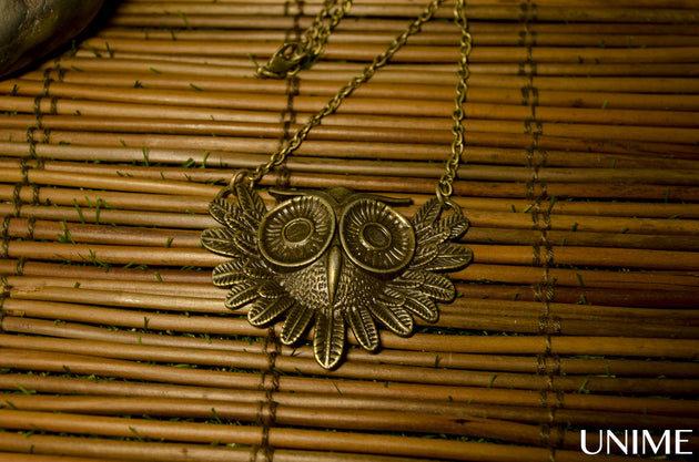 Owl Vintage Charm Pendant Necklace - Unime Crystal Jewellery Shop - Semi-precious gemstone bracelets and necklaces - offer lucky charms