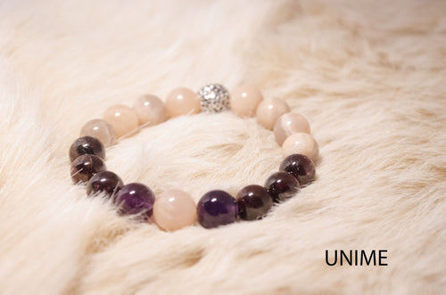 Amethyst, Sunstone and Garnet bracelet