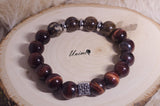 Bronzite and Red Tiger Eye bracelet