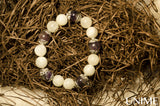 Moonstone Amethyst bracelet - Unime Crystal Jewellery Shop - Semi-precious gemstone bracelets and necklaces - offer lucky charms