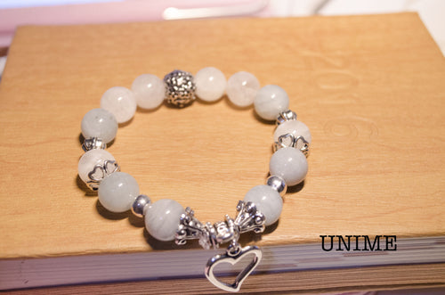 Aquamarine and Moonstone bracelet