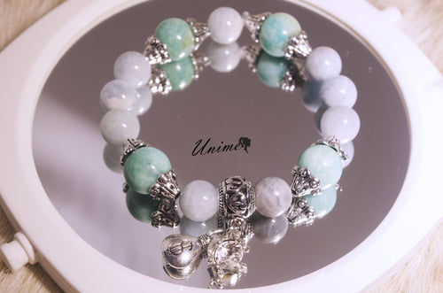 Aquamarine and Amazonite bracelet