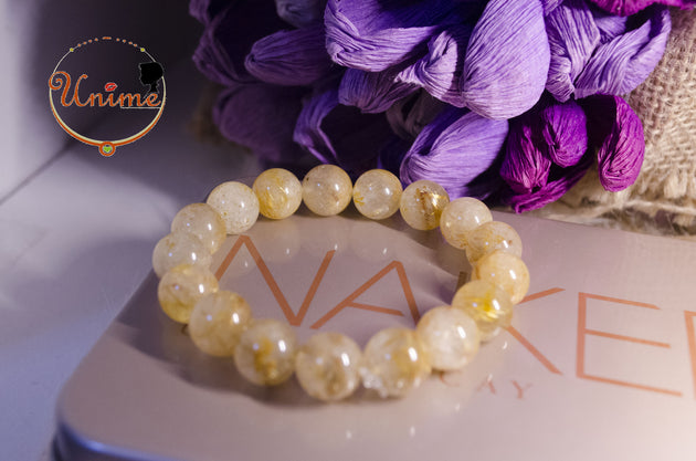 Golden Hair Rutilated Quartz bracelet