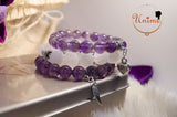 Bohomian Amethyst and Moonstone bracelet