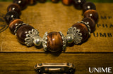 Red Tiger Eye Floral Bracelet with high quality Grade A Red Tiger Eye gemstone beads - Unime Crystal Jewellery Shop - Semi-precious gemstone bracelets and necklaces - offer lucky charms