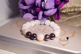 Sunstone,Garnet and Rose Quartz bracelet