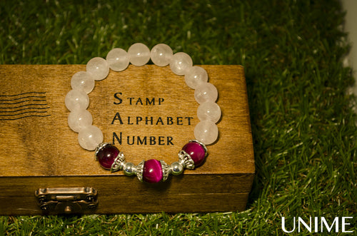 Loving Rose Quartz bracelet - Unime Crystal Jewellery Shop - Semi-precious gemstone bracelets and necklaces - offer lucky charms