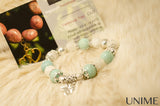 Moonstone and Brazilian Amazonite bracelet
