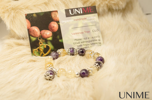 Citrine and Amethyst bracelet