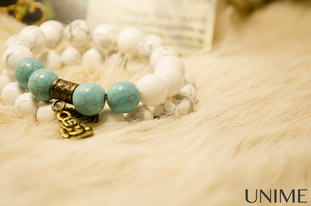 Tibetan Howlite bracelet - Unime Crystal Jewellery Shop - Semi-precious gemstone bracelets and necklaces - offer lucky charms