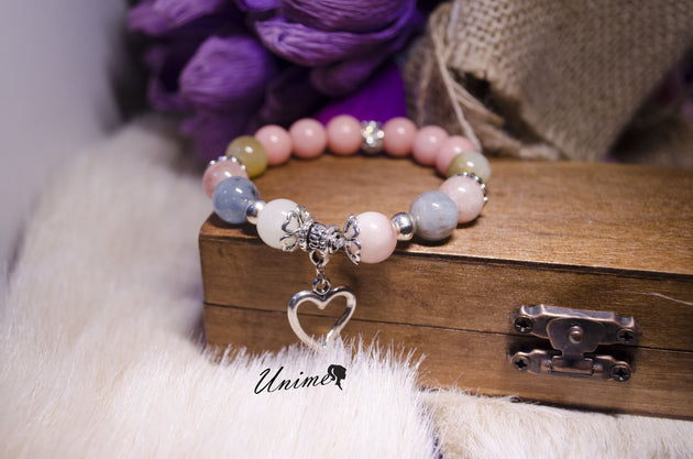 Loving Morgan and Pink Jade bracelet