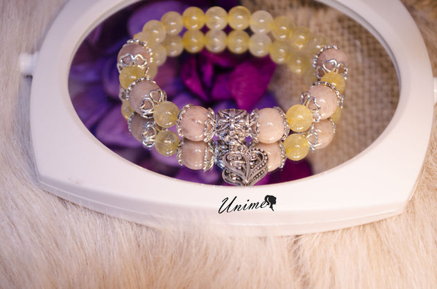 Citrine and Sunstone bracelet