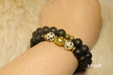 Tiger Black Matte Agate bracelet - Unime Crystal Jewellery Shop - Semi-precious gemstone bracelets and necklaces - offer lucky charms