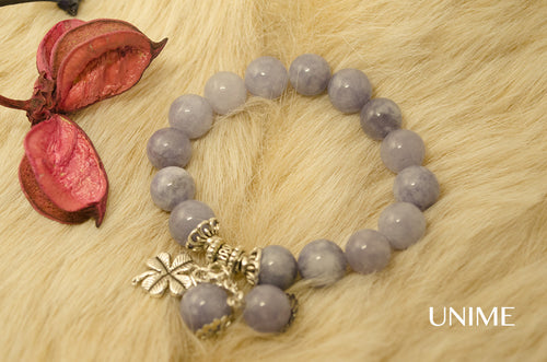 Aquamarine gemstone bracelet - Unime Crystal Jewellery Shop - Semi-precious gemstone bracelets and necklaces - offer lucky charms