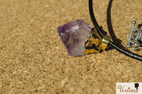 Lavender Taste Necklace - Unime Crystal Jewellery Shop - Semi-precious gemstone bracelets and necklaces - offer lucky charms