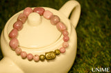 Buddha Peachy Rhodonite Bracelet - Unime Crystal Jewellery Shop - Semi-precious gemstone bracelets and necklaces - offer lucky charms