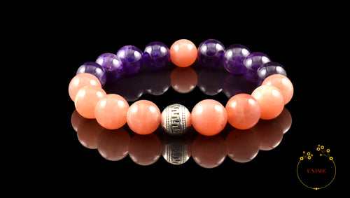 Gioia – Joyful Sunstone and Amethyst Bracelet