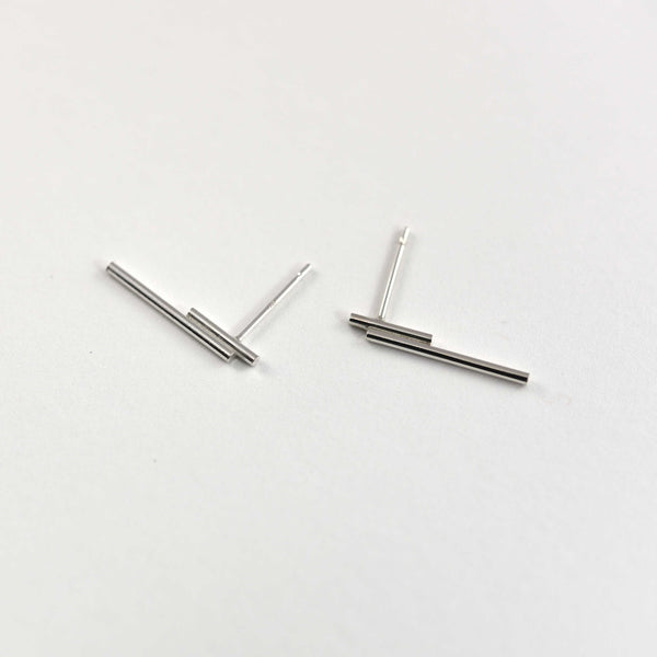 Tube linear Earrings N°4 AgJc  - 5