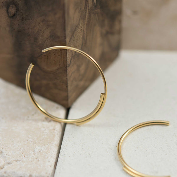 Gold filled hoop earrings N°5 AgJc -2