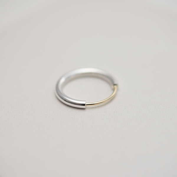 Arch silver and gold ring by AgJc
