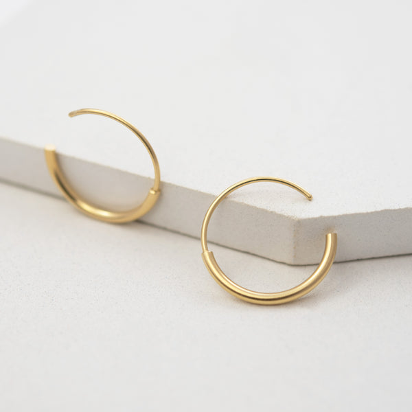 Gold Medium Everyday Hoops by AgJc bijoux