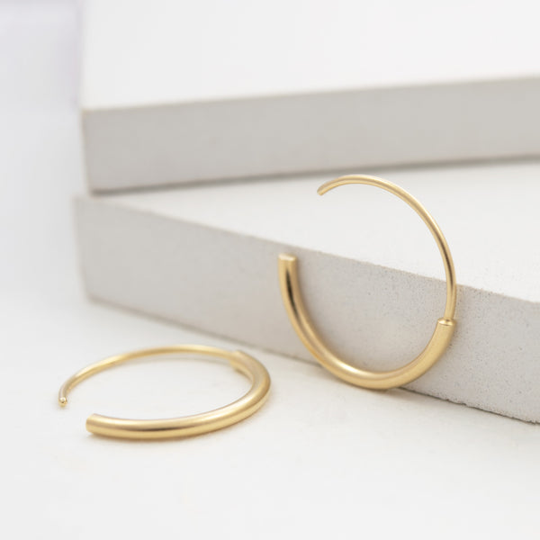 The perfect gold hoops by AgJc