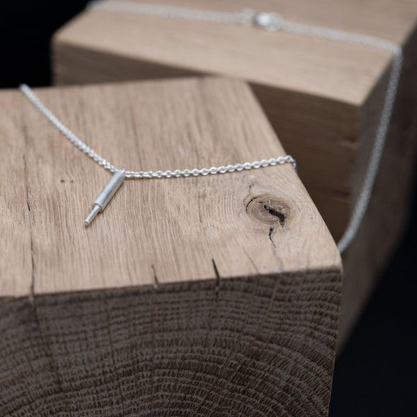 Silver line necklace by AgJc