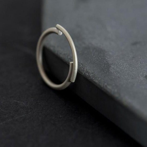 Architectural silver ring N°3 AgJc -1