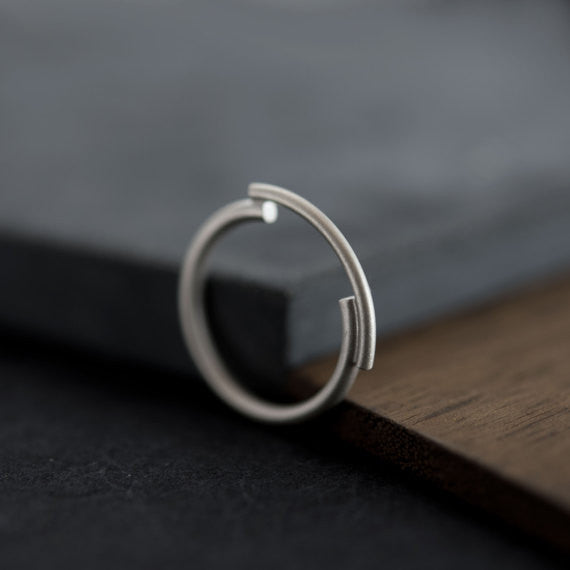 Architectural silver ring N°3 AgJc -2
