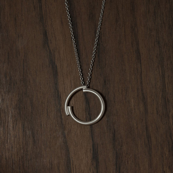 Minimalist circle necklace N°4 AgJc - 4