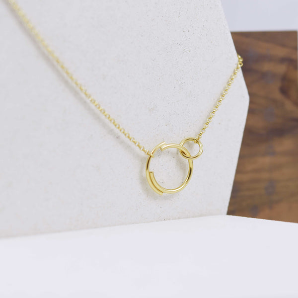 Interlocking Circle Necklace N°6 AgJc -5