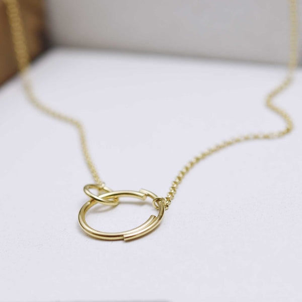 Interlocking Circle Necklace N°6 AgJc -1