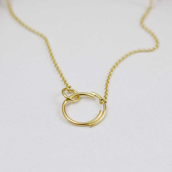 Interlocking Circle Necklace N°6 AgJc -3